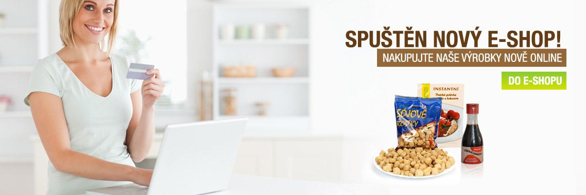 Nový e-shop se sójovými produkty